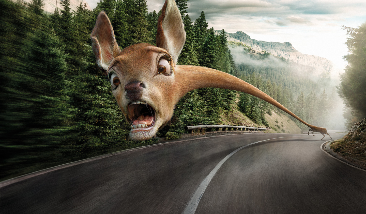 Mercedes-Benz spots danger ahead. These wacky caricatures are our latest production with Illusion and Wirz Zurich.